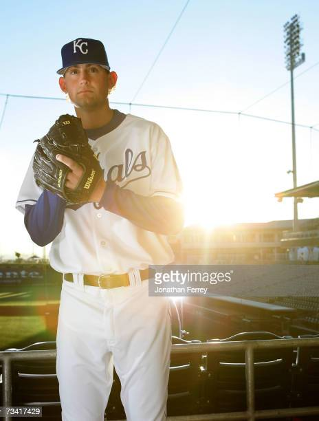 Pitcher Luke Hochevar of the Kansas City Royals poses for a portrait during Spring Training Photo Day on February 25 2007 at Surprise Stadium in...