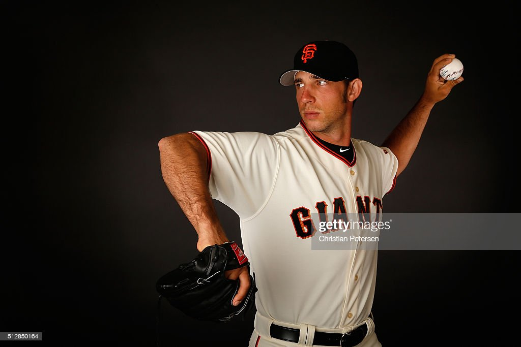Pitcher Madison Bumgarner #40 of the San Francisco Giants poses for a portrait during spring training photo day at Scottsdale Stadium on February 28, 2016 in Scottsdale, Arizona.