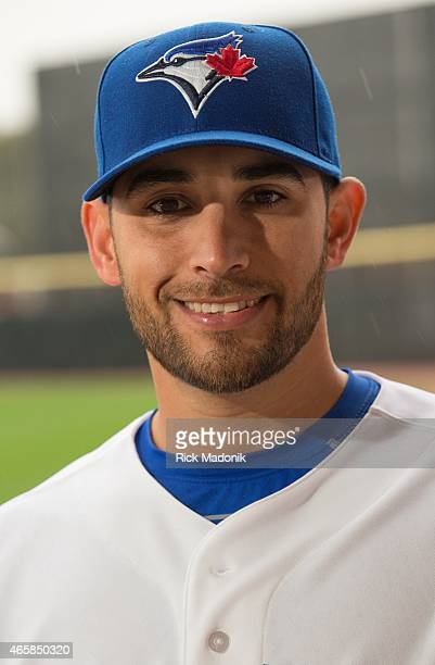 Pitcher Marco Estrada The Jays hold Photo Day at Florida Auto Exchange Stadium