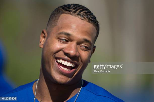 Pitcher Marcus Stroman is sporting a new hairstyle this year complete with corn rows and a very small man bun Toronto Blue Jays continue the...