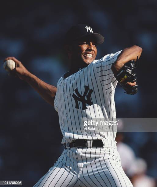 Pitcher Mariano Rivera of the New York Yankess during the Major League Baseball American League East game against the Cleveland Indians on 29 June...