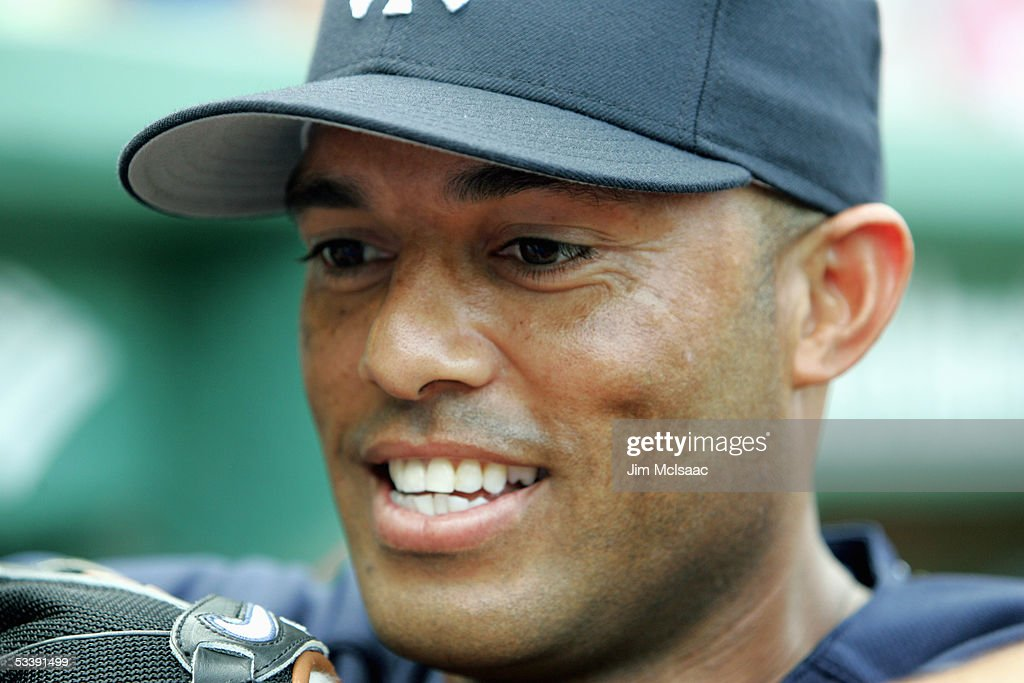 Pitcher Mariano Rivera #42 of the New York Yankees watches the game against the Boston Red Sox at Fenway Park on July 17, 2005 in Boston, Massachusetts. The Yankees defeated the Red Sox 5-3.
