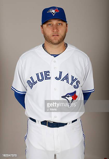 Pitcher Mark Buehrle of the Toronto Blue Jays poses for a photo during photo day at Florida Auto Exchange Stadium on February 18 2013 in Dunedin...