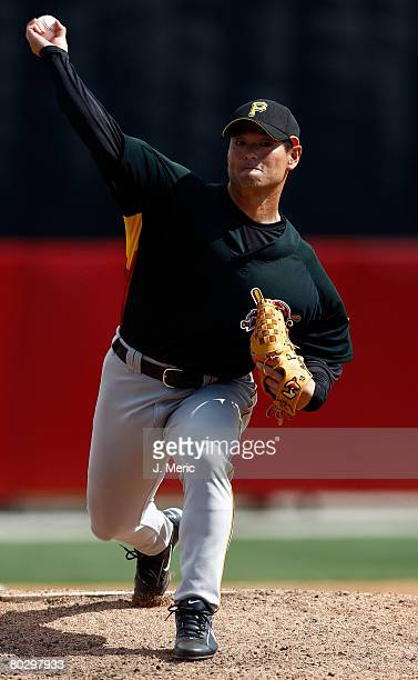 Pitcher Masumi Kuwata of the Pittsburgh Pirates makes a pitch against the Cincinnati Reds during the Grapefruit League Spring Training game on March...