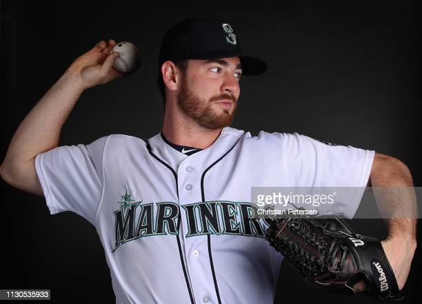 Pitcher Matt Festa of the Seattle Mariners poses for a portrait during photo day at Peoria Stadium on February 18 2019 in Peoria Arizona