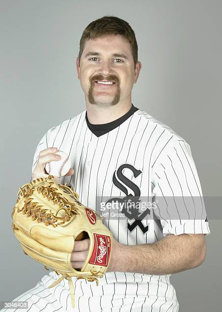 Pitcher Matt Ginter of the Chicago White Sox poses for a portrait during Media Day on February 27 2004 at Tucson Electric Park in Tucson Arizona