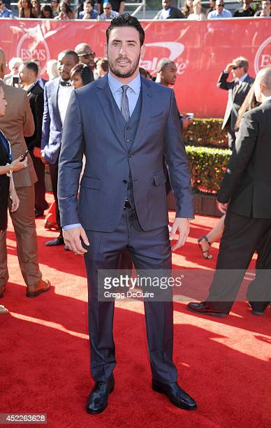 MLB pitcher Matt Harvey arrives at the 2014 ESPY Awards at Nokia Theatre LA Live on July 16 2014 in Los Angeles California