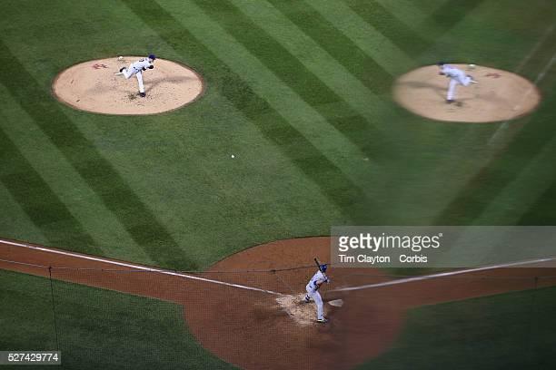 Pitcher Matt Harvey New York Mets pitching during the New York Mets Vs Toronto Blue Jays MLB regular season baseball game at Citi Field Queens New...