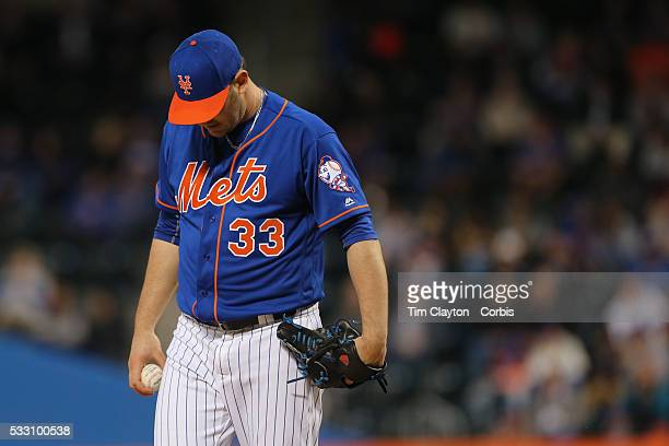 Pitcher Matt Harvey of the New York Mets pitching in the third innings during the Washington Nationals Vs New York Mets regular season MLB game at...