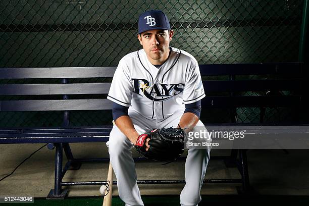 Pitcher Matt Moore of the Tampa Bay Rays poses for a photo during the Rays' photo day on February 25 2016 at Charlotte Sports Park in Port Charlotte...