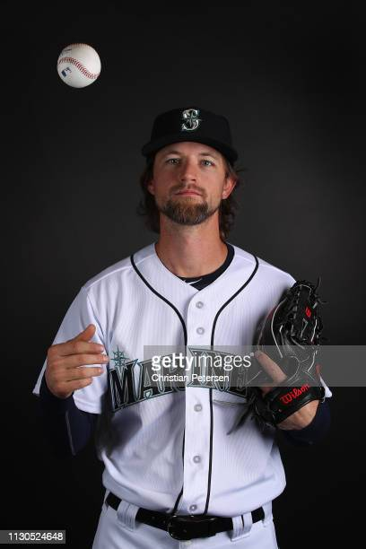 Pitcher Mike Leake of the Seattle Mariners poses for a portrait during photo day at Peoria Stadium on February 18 2019 in Peoria Arizona