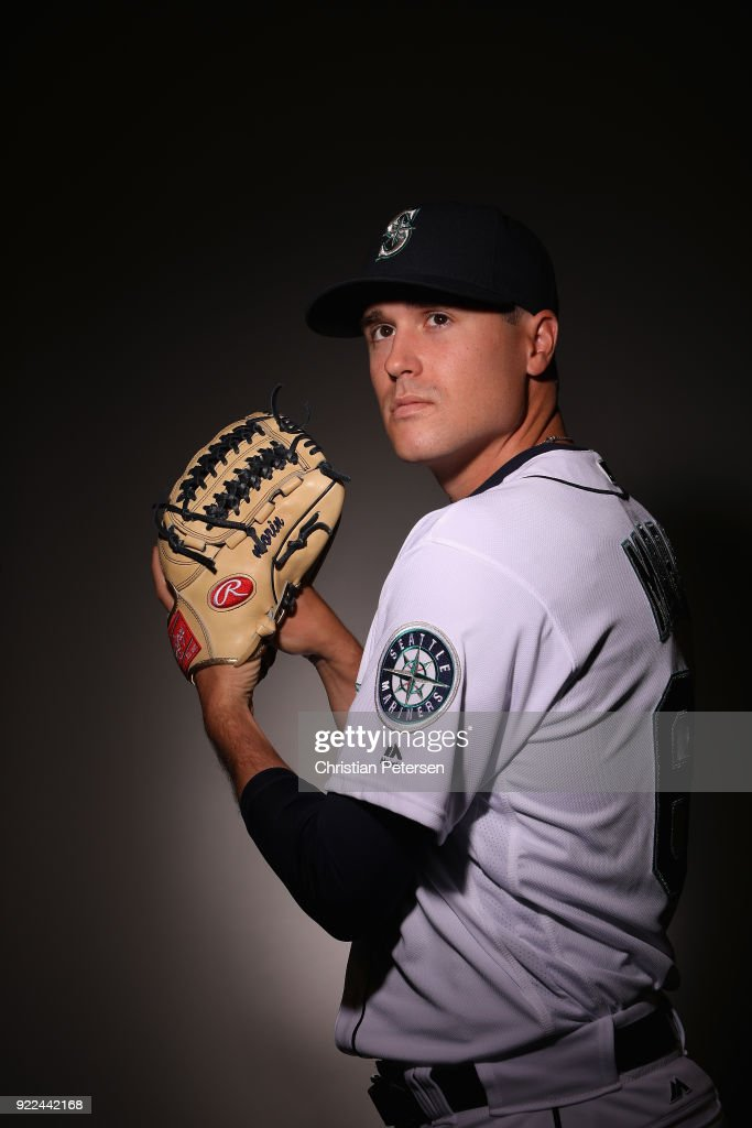 Pitcher Mike Morin #64 of the Seattle Mariners poses for a portrait during photo day at Peoria Stadium on February 21, 2018 in Peoria, Arizona.