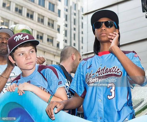 Pitcher Mo'ne Davis of Philadelphia Little League baseball team Taney Dragons attends a parade celebrating the team's championship on August 27, 2014...
