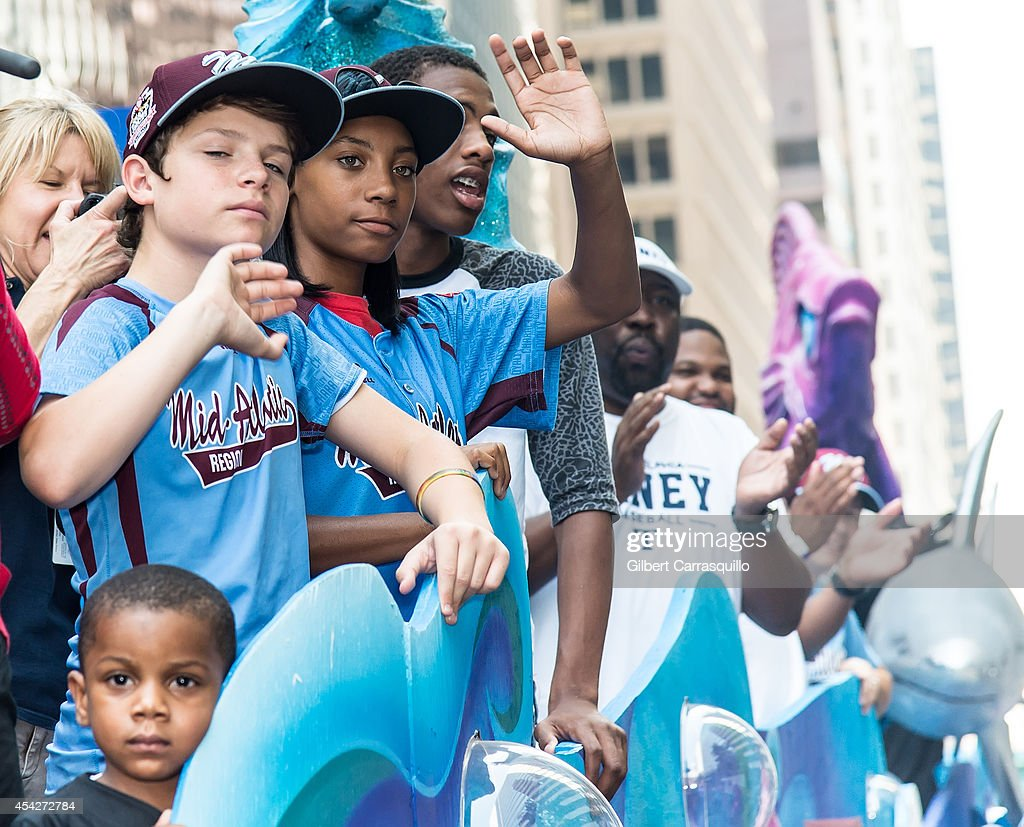 Parade Celebrating Champion Taney Dragons Little League team : News Photo