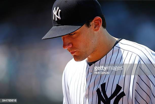 Pitcher Nathan Eovaldi of the New York Yankees in action against the Minnesota Twins during a game at Yankee Stadium on June 26 2016 in the Bronx...