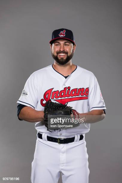 Pitcher Nick Goody poses for a photo during the Cleveland Indians photo day on Wednesday Feb 21 2018 at Goodyear Ballpark in Goodyear Ariz