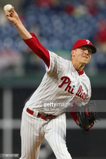 Pitcher Nick Pivetta of the Philadelphia Phillies delivers a pitch against the Minnesota Twins during the first inning of a game at Citizens Bank...