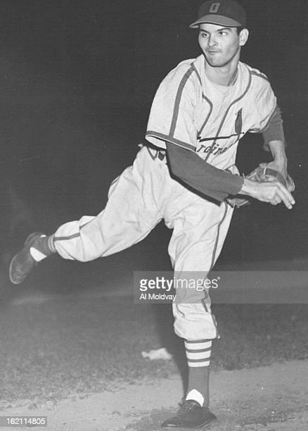 Pitcher Octavio Rubert Omaha's oneeyed Cuban ace Note left eye is false