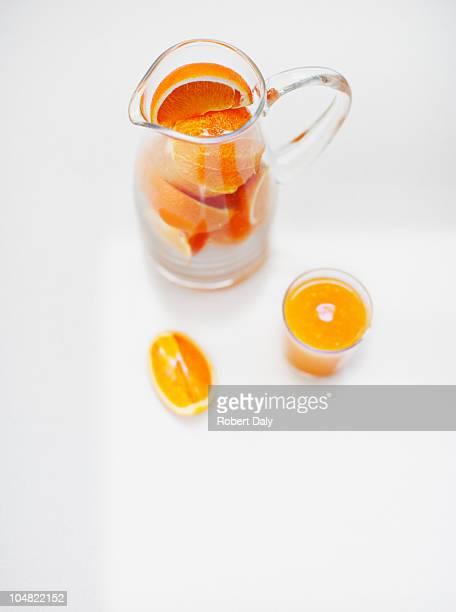 Pitcher of orange slices