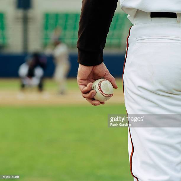 Pitcher on Mound Holding Baseball