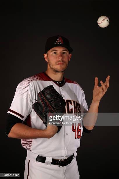 Pitcher Patrick Corbin of the Arizona Diamondbacks poses for a portrait during photo day at Salt River Fields at Talking Stick on February 21 2017 in...