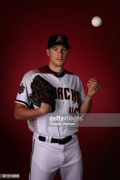 Pitcher Patrick Corbin of the Arizona Diamondbacks poses for a portrait during photo day at Salt River Fields at Talking Stick on February 20 2018 in...