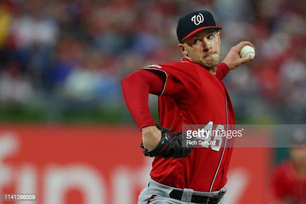 Pitcher Patrick Corbin of the Washington Nationals delivers a pitch against the Philadelphia Phillies in the second inning of a game at Citizens Bank...