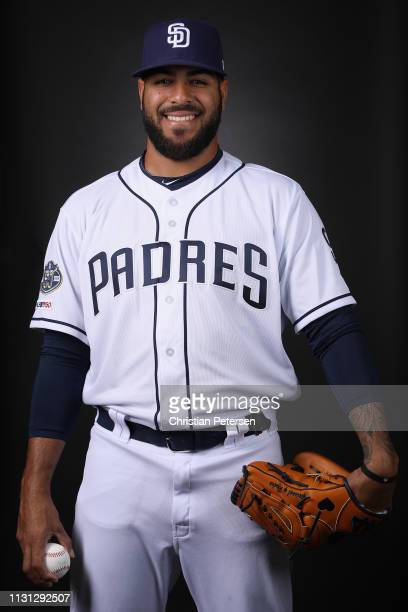 Pitcher Pedro Avila of the San Diego Padres poses for a portrait during photo day at Peoria Stadium on February 21 2019 in Peoria Arizona