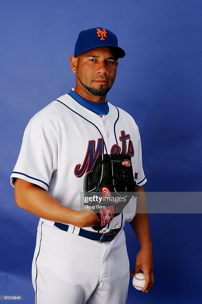 Pitcher Pedro Feliciano #25 of the New York Mets poses during photo day at Tradition Field on February 27, 2010 in Port St. Lucie, Florida.