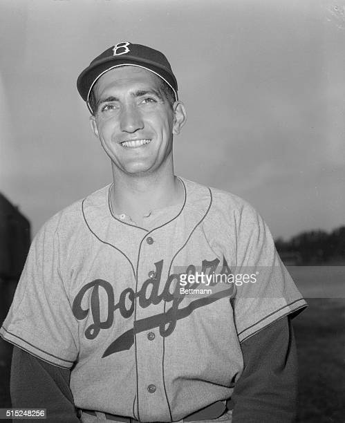 Pitcher Ralph Branca at Dodgers spring training camp Vero Beach Florida