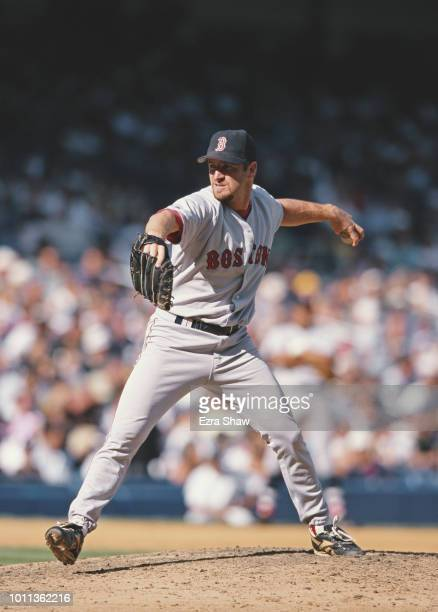 Pitcher Rheal Cormier of the Boston Red Sox during the Major League Baseball American League East game against the New York Yankees on 11 September...