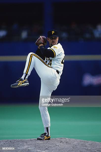 Pitcher Rick White of the Pittsburgh Pirates pitches during a Major League Baseball game at Three Rivers Stadium in 1994 in Pittsburgh Pennsylvania