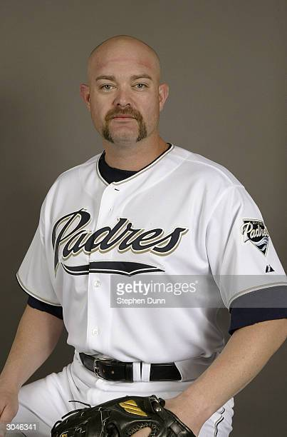 Pitcher Rod Beck of the San Diego Padres poses for a picture during media day at Peoria Sports Complex on February 28 2004 in Peoria Arizona