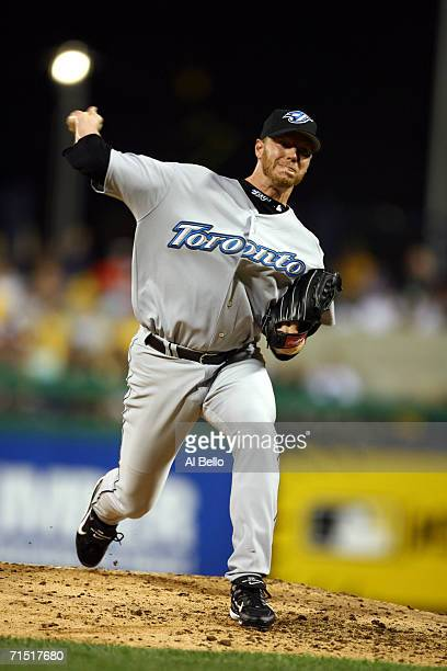 Pitcher Roy Halladay of the American League AllStar team delivers a pitch against the National League AllStar team during the 77th MLB AllStar Game...