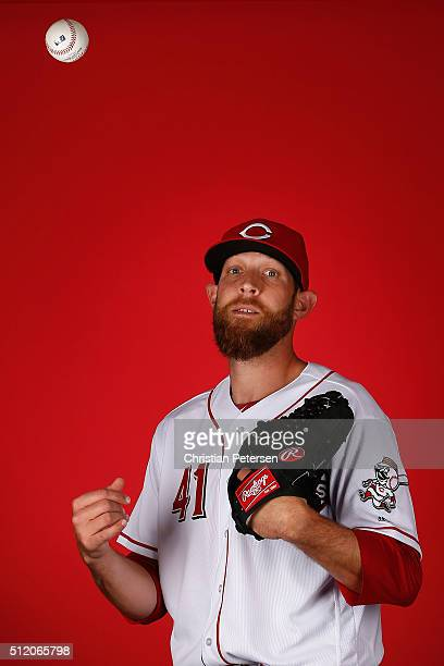 Pitcher Ryan Mattheus of the Cincinnati Reds poses for a portrait during spring training photo day at Goodyear Ballpark on February 24 2016 in...
