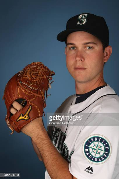 Pitcher Ryan Weber of the Seattle Mariners poses for a portrait during photo day at Peoria Stadium on February 20 2017 in Peoria Arizona