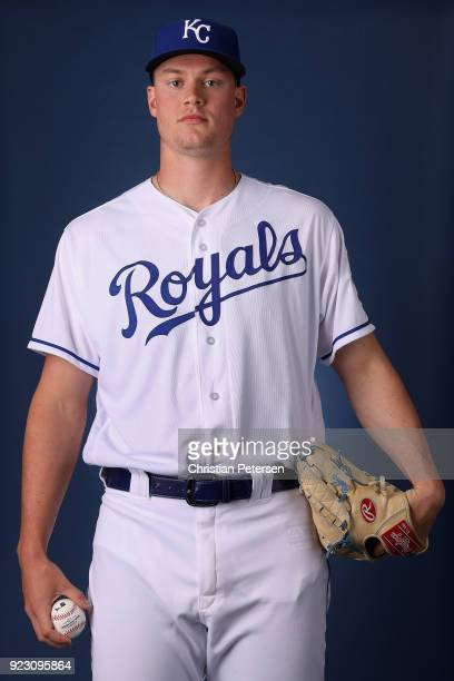 Pitcher Scott Blewett of the Kansas City Royals poses for a portrait during photo day at Surprise Stadium on February 22 2018 in Surprise Arizona