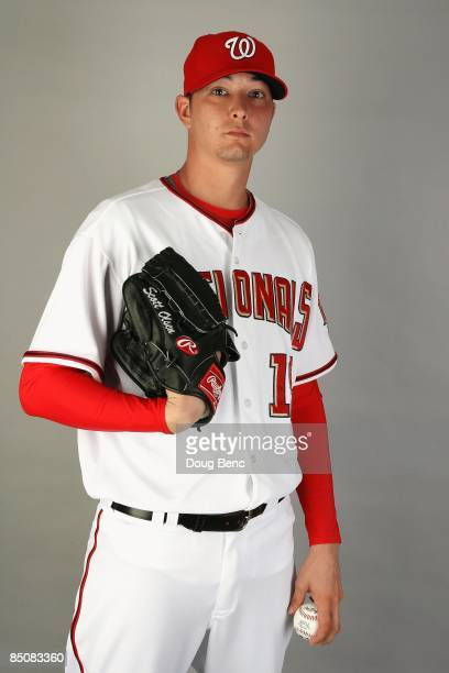 Pitcher Scott Olsen of the Washington Nationals poses during photo day at Roger Dean Stadium on February 21 2009 in Viera Florida