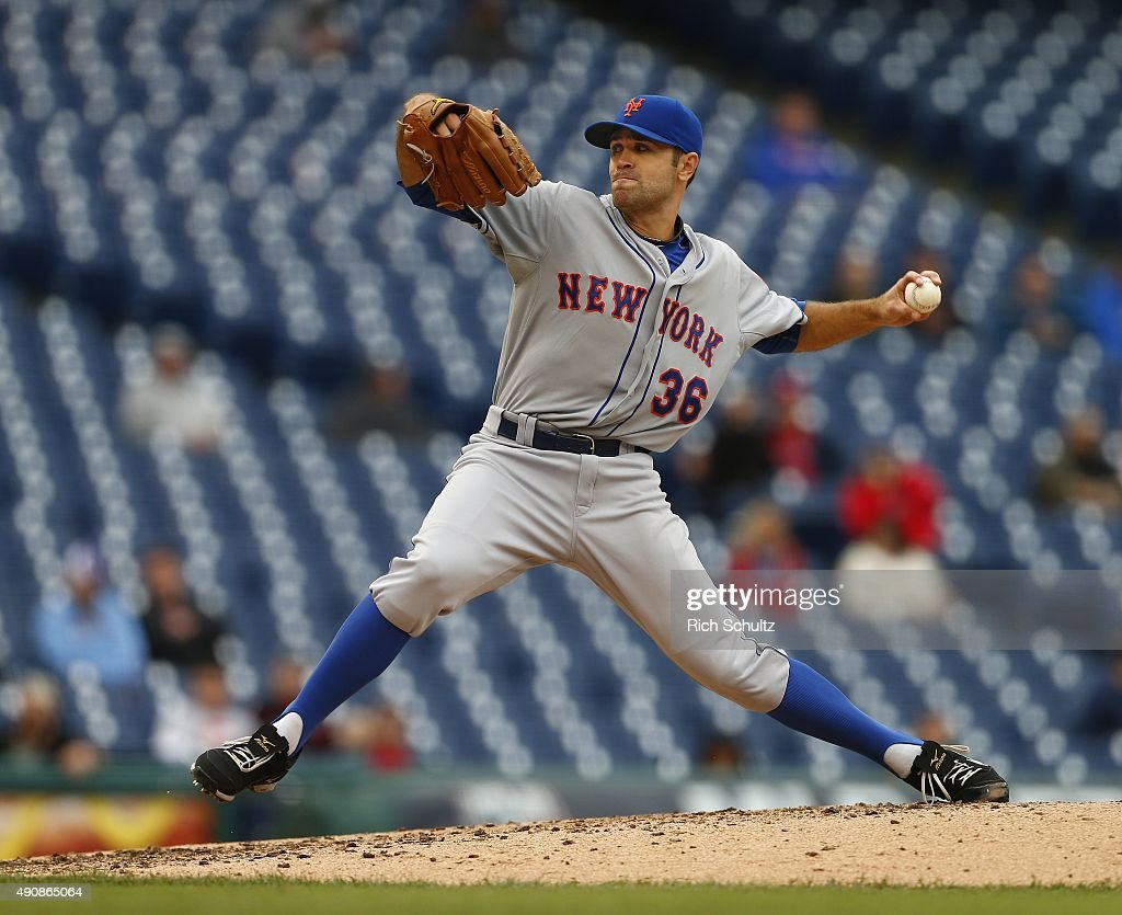 Pitcher Sean Gilmartin #36 of the New York Mets delivers a pitch against the Philadelphia Phillies during the fourth inning of a MLB game at Citizens Bank Park on October 1, 2015 in Philadelphia, Pennsylvania. The Phillies defeated the Mets 3-0.