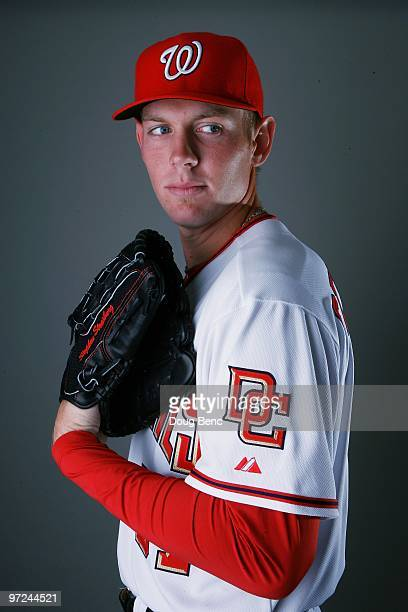 Pitcher Stephen Strasburg of the Washington Nationals poses during photo day at Space Coast Stadium on February 28 2010 in Viera Florida