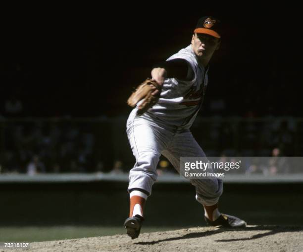 Pitcher Steve Barber of the Baltimore Orioles throws a pitch during a game on May 1 1966 against the Detroit Tigers at Tiger Stadium in Detroit...