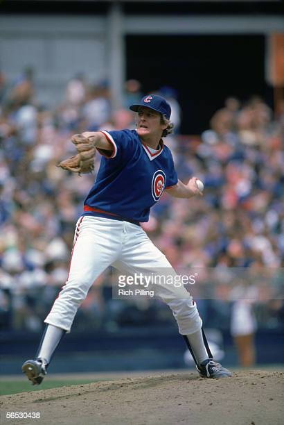 Pitcher Steve Trout of the Chicago Cubs winds back to pitch during a 1984 season game Steve Trout played for the Cubs from 19831986