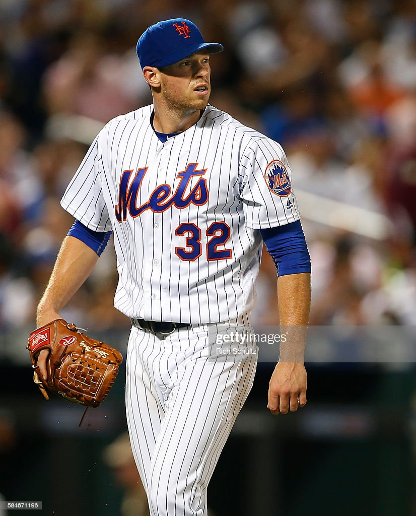Pitcher Steven Matz #32 of the New York Mets walks off the mound after the sixth inning against the Colorado Rockies during a game at Citi Field on July 29, 2016 in the Flushing neighborhood of the Queens borough of New York City. The Rockies defeated the Mets 6-1.