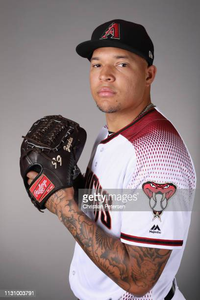 Pitcher Taijuan Walker of the Arizona Diamondbacks poses for a portrait during photo day at Salt River Fields at Talking Stick on February 20 2019 in...
