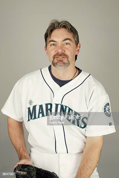 Pitcher Terry Mulholland of the Seattle Mariners poses for a portrait during the 2004 MLB Spring Training Photo Day at Peoria Stadium on February 27...