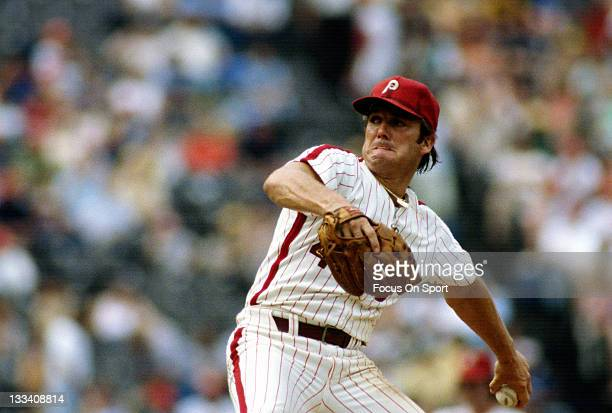 Pitcher Tug McGraw of the Philadelphia Phillies pitches during an Major League Baseball game circa 1980 at Veterans Stadium in Philadelphia...