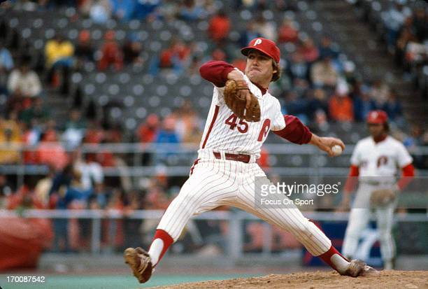 Pitcher Tug McGraw of the Philadelphia Phillies pitches during an Major League Baseball game circa 1978 at Veterans Stadium in Philadelphia...