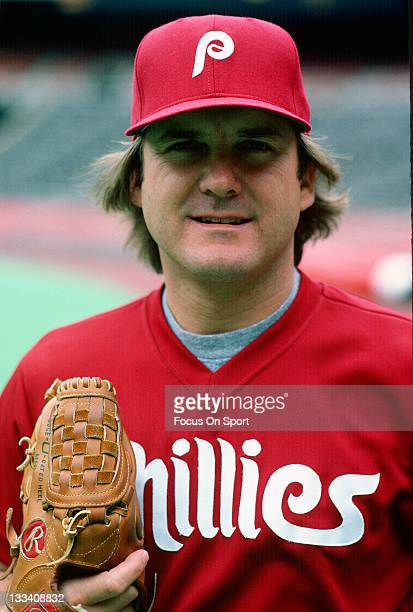Pitcher Tug McGraw of the Philadelphia Phillies poses for the camera before a Major League Baseball game circa 1981 at Veterans Stadium in...