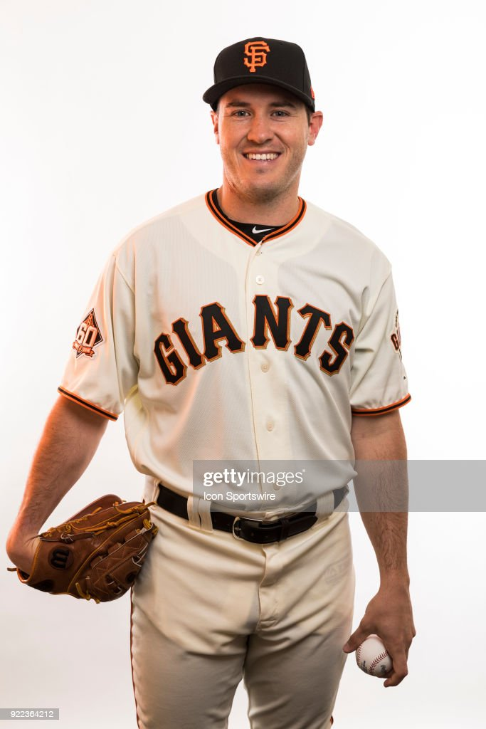 Pitcher Ty Black (50) poses for a photo during the San Francisco Giants photo day on Tuesday, Feb. 20, 2018 at Scottsdale Stadium in Scottsdale, Ariz.