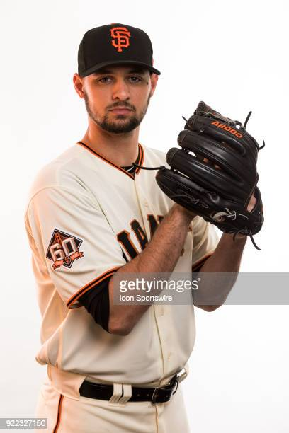 Pitcher Tyler Beede poses for a photo during the San Francisco Giants photo day on Tuesday Feb 20 2018 at Scottsdale Stadium in Scottsdale Ariz